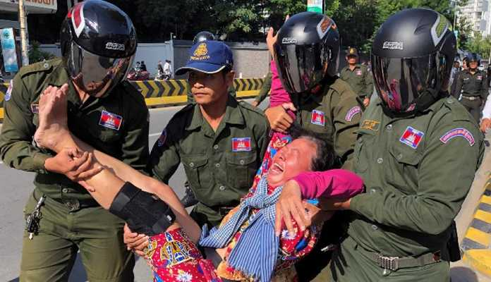 protests erupt in cambodia over chinese influence