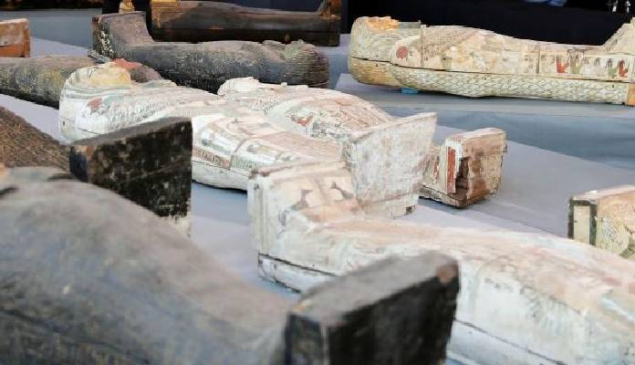 Egypt Showcases 25,000-year-old Coffins