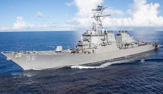Russian defence ministry says they caught US warship in their waters